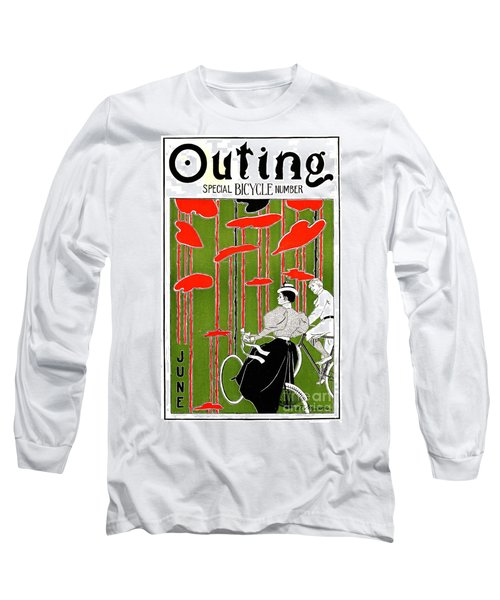 Long Sleeve T-Shirt featuring the photograph Vintage Bicycle Issue 1896 by Padre Art