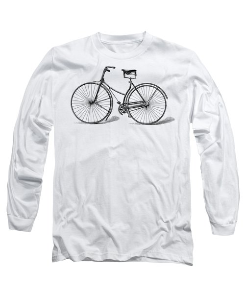 Long Sleeve T-Shirt featuring the digital art Vintage Bike by ReInVintaged