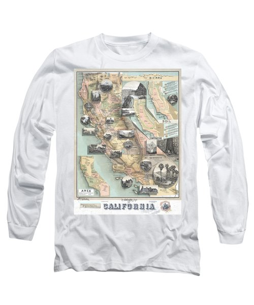 Vintage California Map Long Sleeve T-Shirt