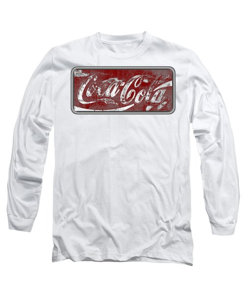 Vintage Coca Cola Red And White Sign With Transparent Background Long Sleeve T-Shirt