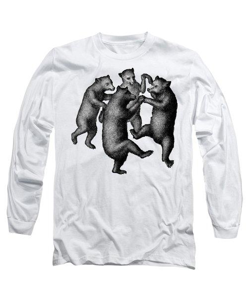 Vintage Dancing Bears Long Sleeve T-Shirt by Edward Fielding