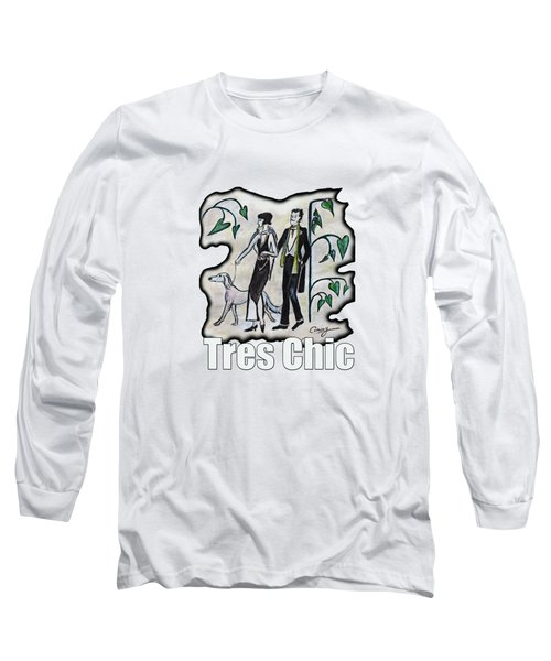 Vintage Fashion Tres Chic Long Sleeve T-Shirt by Tom Conway