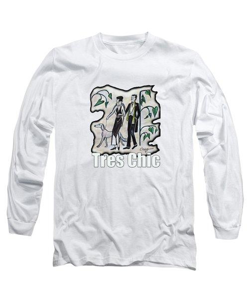Vintage Fashion Tres Chic Long Sleeve T-Shirt