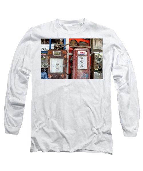 Vintage Gas Pumps Long Sleeve T-Shirt