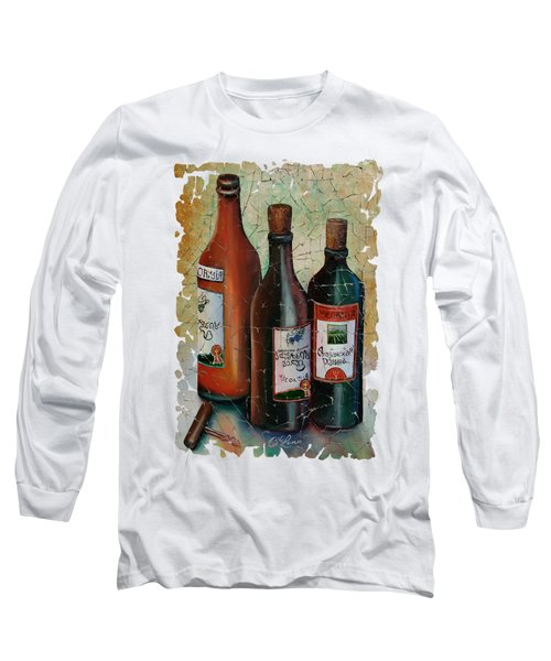 Vintage Georgian Wine Fresco Long Sleeve T-Shirt by Lena  Owens OLena Art