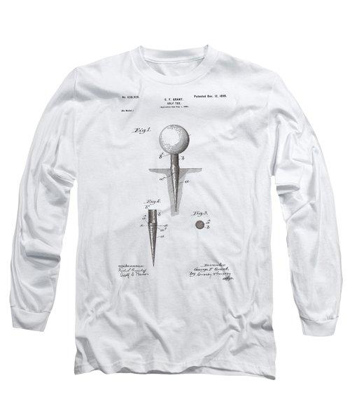 Vintage Golf Tee Patent 1899 Long Sleeve T-Shirt