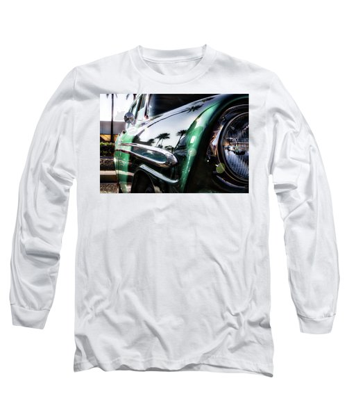 Vintage Green Long Sleeve T-Shirt by Mark David Gerson