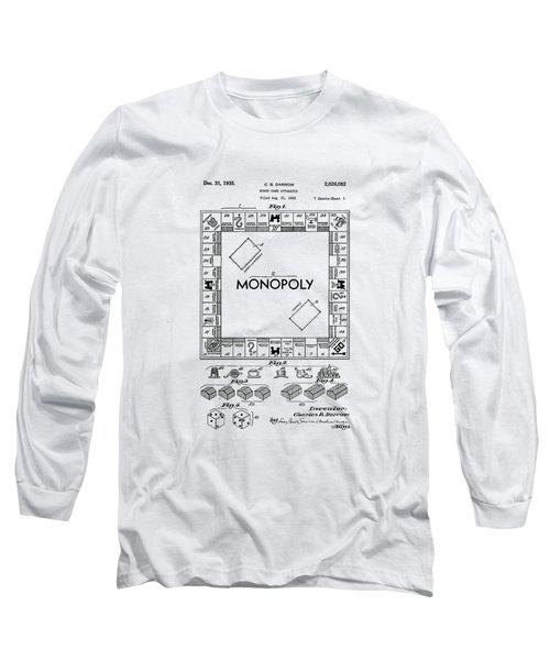 Vintage Monopoly Patent 1935 Long Sleeve T-Shirt