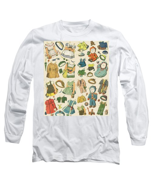 Vintage Paper Dolls  Long Sleeve T-Shirt