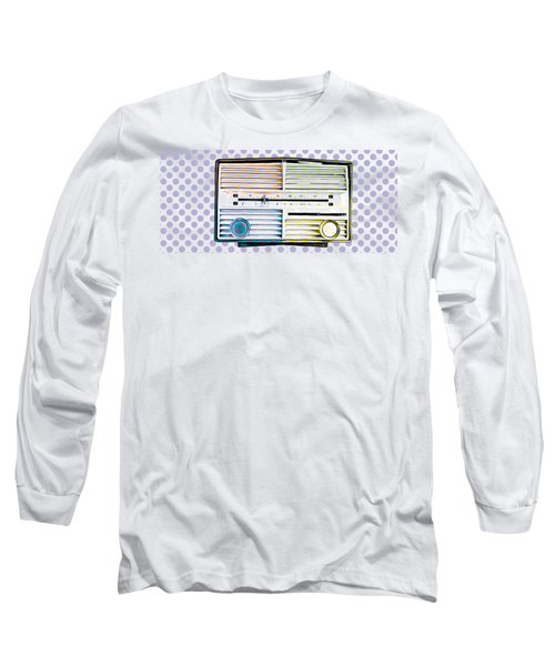 Long Sleeve T-Shirt featuring the photograph Vintage Radio Purple Dots Mug by Edward Fielding