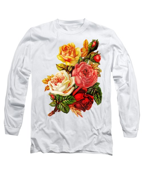 Long Sleeve T-Shirt featuring the digital art Vintage Rose I by Kim Kent