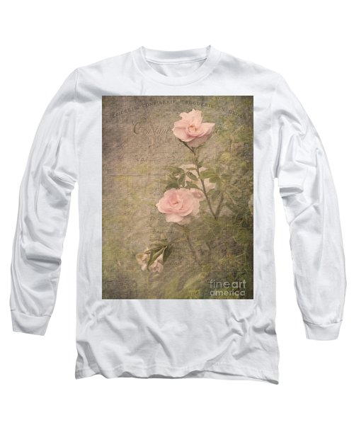 Long Sleeve T-Shirt featuring the photograph Vintage Rose Poster by Liz  Alderdice