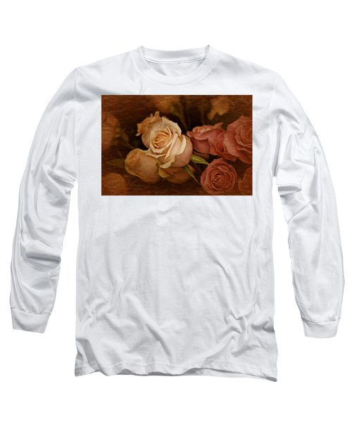 Long Sleeve T-Shirt featuring the photograph Vintage Roses March 2017 by Richard Cummings