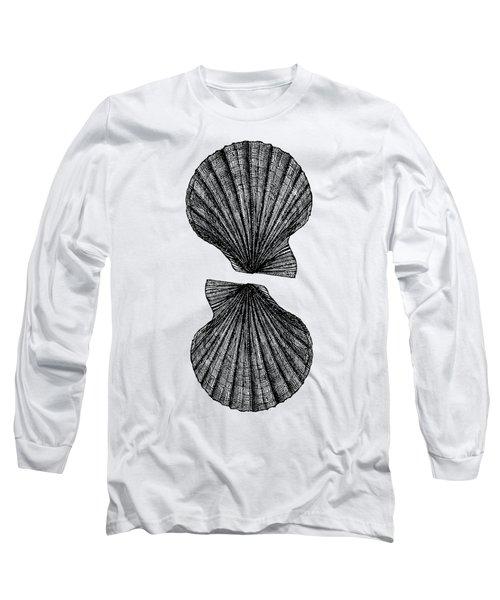 Vintage Scallop Shells Long Sleeve T-Shirt