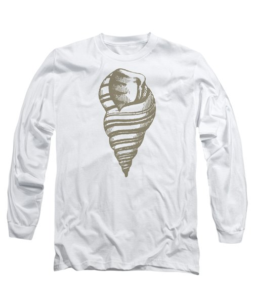 Vintage Sea Shell Illustration Long Sleeve T-Shirt