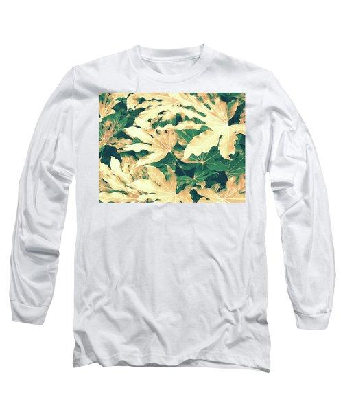 Vintage Season Gold Long Sleeve T-Shirt by Rebecca Harman