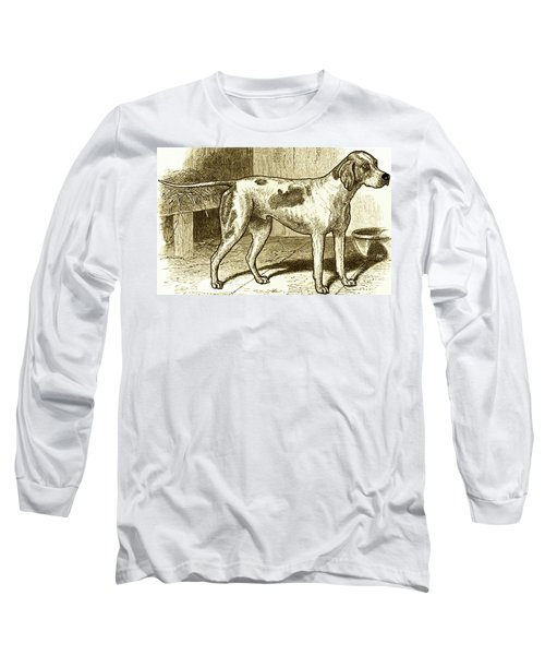 Long Sleeve T-Shirt featuring the painting Vintage Sepia German Shorthaired Pointer by Marian Cates