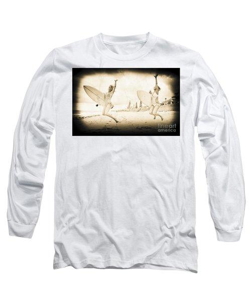 Vintage Sport Photograph Long Sleeve T-Shirt