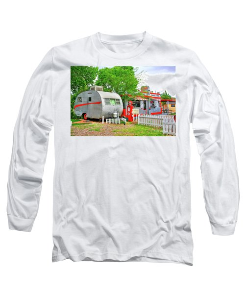 Vintage Trailer And Diner In Bisbee Arizona Long Sleeve T-Shirt