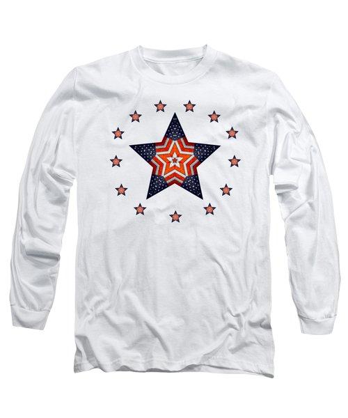 Vintage Us Fag Star Long Sleeve T-Shirt