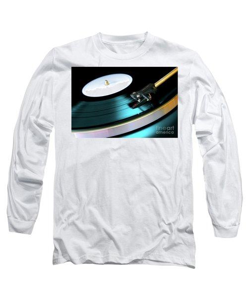 Vinyl Record Long Sleeve T-Shirt by Carlos Caetano