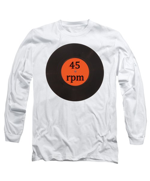 Vinyl Record Vintage 45 Rpm Single Long Sleeve T-Shirt by Tom Conway