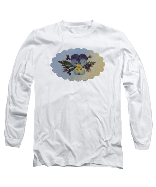 Viola Pressed Flower Arrangement Long Sleeve T-Shirt