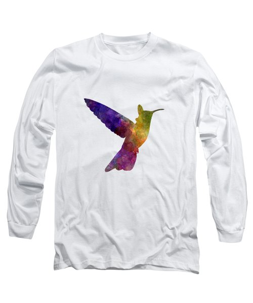 Hummingbird 02 In Watercolor Long Sleeve T-Shirt