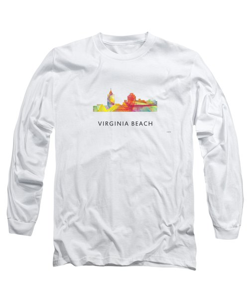 Virginia Beach  Virginia Skyline Long Sleeve T-Shirt by Marlene Watson