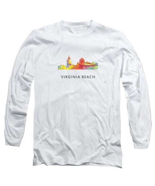 Virginia Beach  Virginia Skyline Long Sleeve T-Shirt