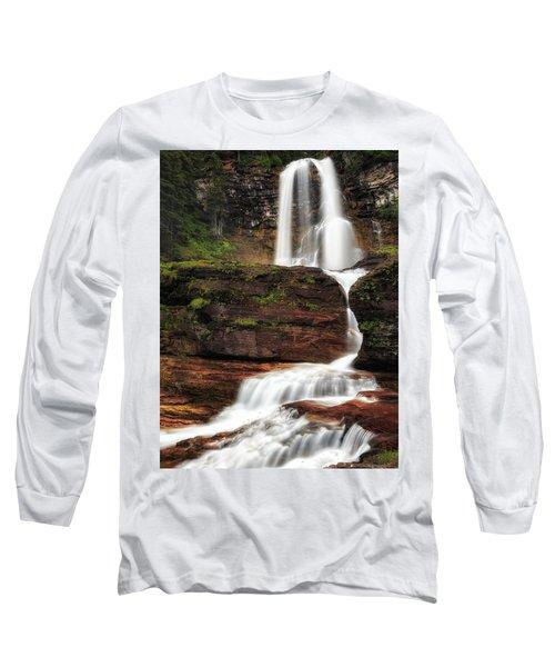 Virginia Falls Glacier National Park Long Sleeve T-Shirt