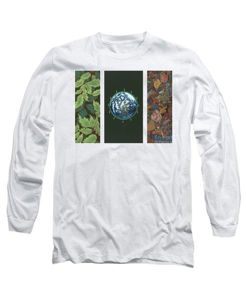 Viriditas Triptych Long Sleeve T-Shirt