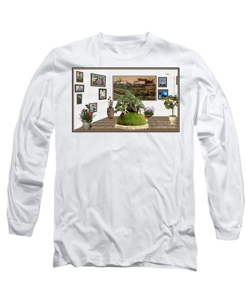 Virtual Exhibition -  Bonsai Palm 17 Long Sleeve T-Shirt by Pemaro