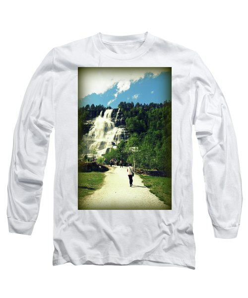 Visit To Tvindefossen Falls Long Sleeve T-Shirt