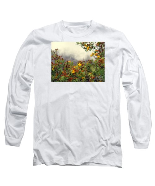 Volcano Scene Reunion Island Long Sleeve T-Shirt