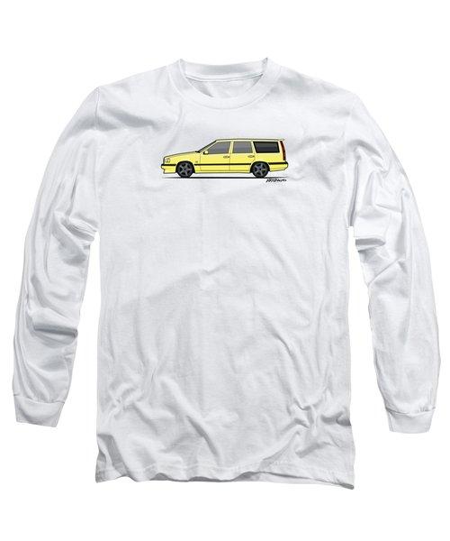 Volvo 850r 855r T5-r Swedish Turbo Wagon Cream Yellow Long Sleeve T-Shirt by Monkey Crisis On Mars