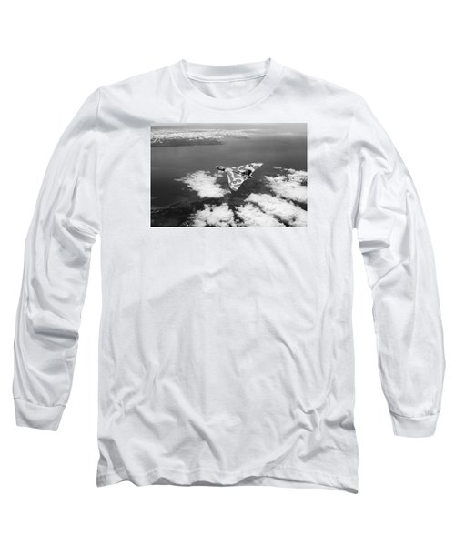 Vulcan Over South Wales Black And White Long Sleeve T-Shirt