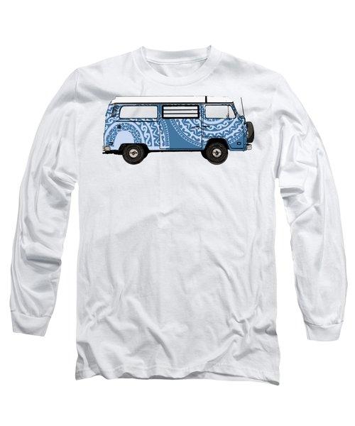 Vw Blue Van Long Sleeve T-Shirt