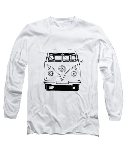 Vw Bus T-shirt Long Sleeve T-Shirt by Edward Fielding
