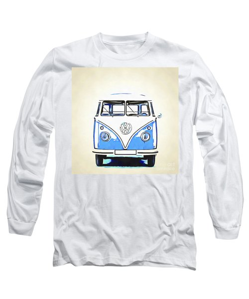 Retrol Van Pop Artwork Blue Long Sleeve T-Shirt