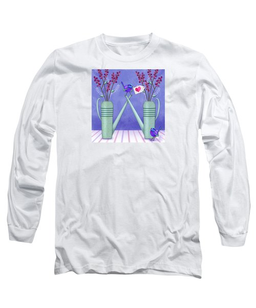 W Is For Watering Cans And Wonderful Wrens Long Sleeve T-Shirt