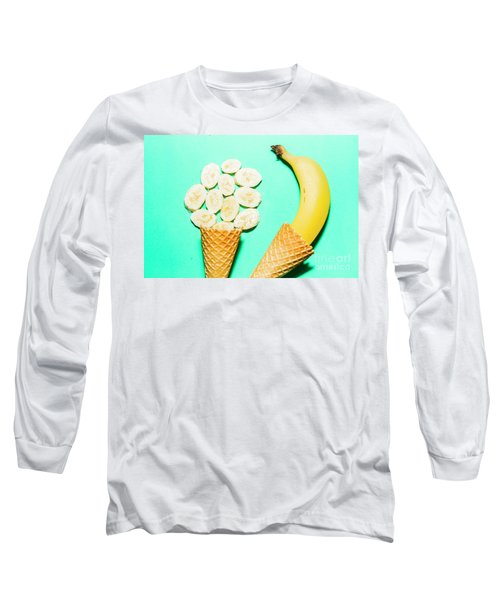 Waffle Cones With Fresh Banana Long Sleeve T-Shirt