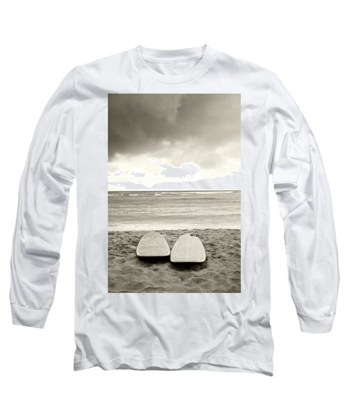 Waikiki Surfboards Long Sleeve T-Shirt