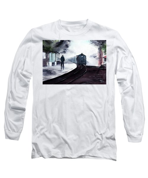 Long Sleeve T-Shirt featuring the painting Waiting by Anil Nene