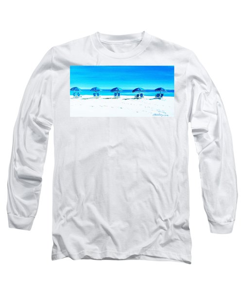 Waiting For The Beach Sitters Long Sleeve T-Shirt