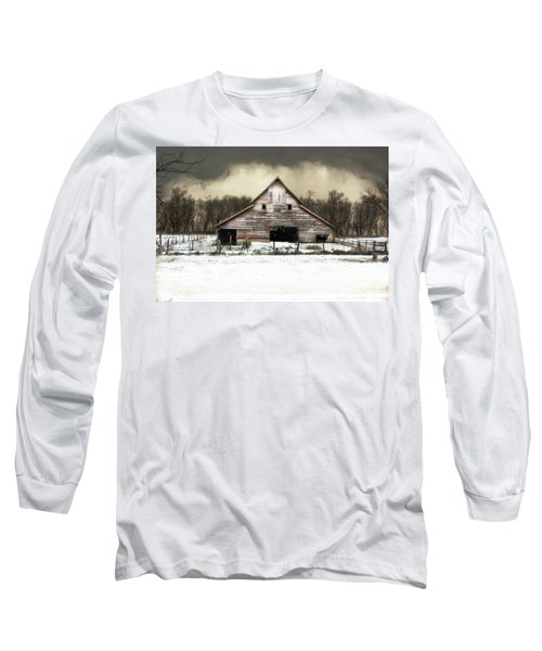 Waiting For The Storm To Pass Long Sleeve T-Shirt by Julie Hamilton