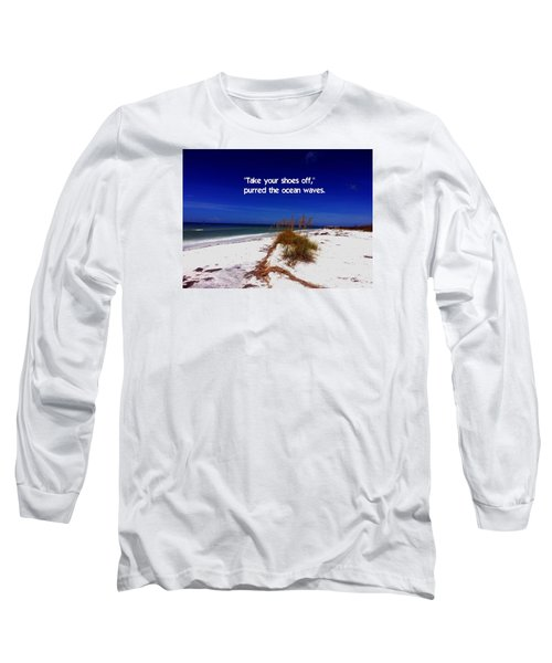 Long Sleeve T-Shirt featuring the photograph Walk In The Sand by Gary Wonning