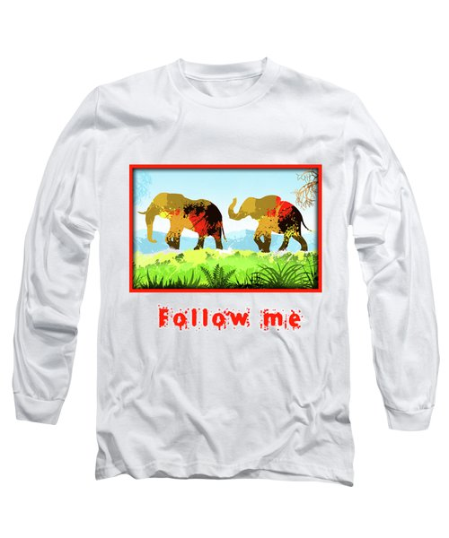 Long Sleeve T-Shirt featuring the digital art Walk With Me by Anthony Mwangi