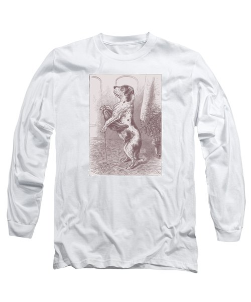 Long Sleeve T-Shirt featuring the drawing Walkies? by David Davies