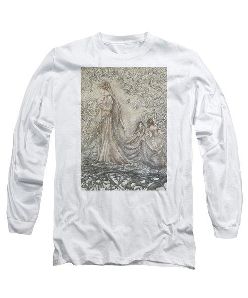 Walking In The Magic Garden Long Sleeve T-Shirt by Rita Fetisov